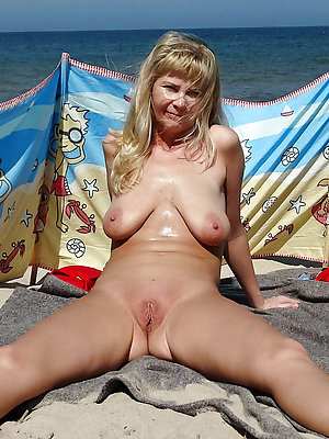 beautiful mature women beach