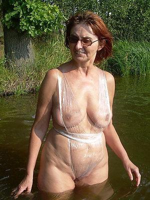 beautiful mature bikini beach