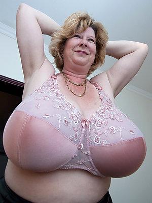 Mature large natural breasts