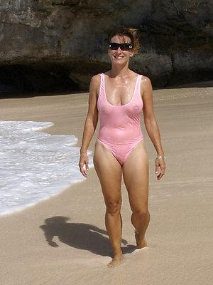 whorish mature bikini model