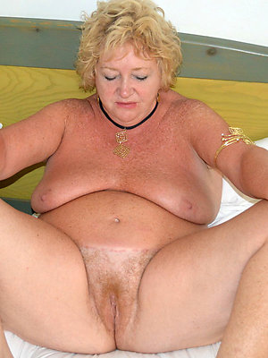 stripped mature blonde mom