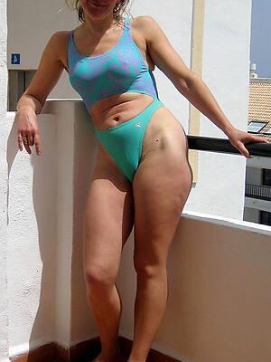 mature in bikini posing