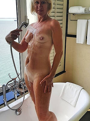 nude adult in the shower