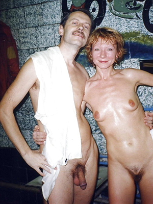 grown-up couples posing nude