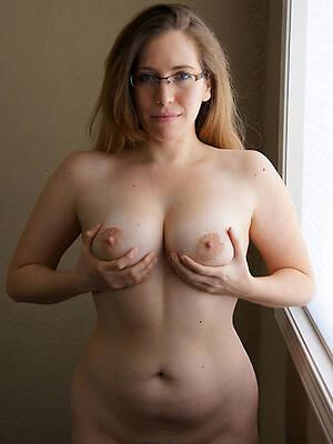 hot blue mature in glasses photo