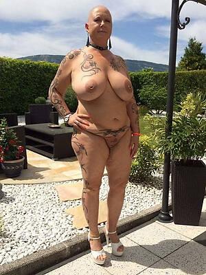 tattooed old mature nude sex pics