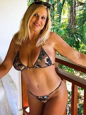 beautiful hot of age mom bikini