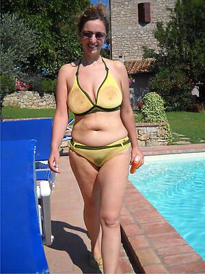 free hd low-spirited mature mom bikini