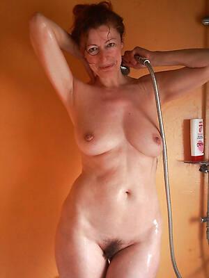 horny mature shower