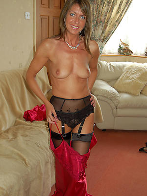 morose grown up wife posing nude