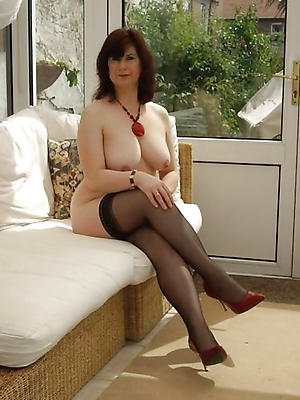 slutty mature in stocking