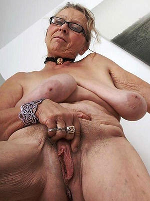 grandma chest posing nude