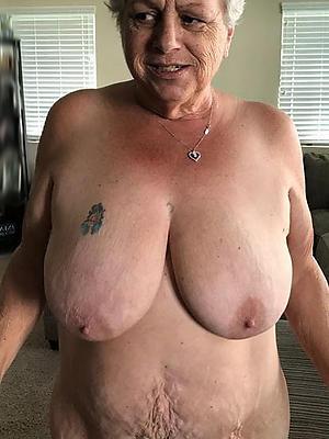 grandma in one's birthday suit