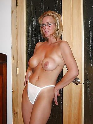 crazy mature blonde with glasses
