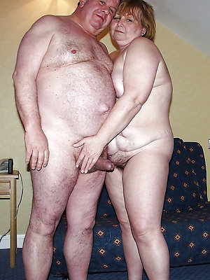 lovely mature couple making love