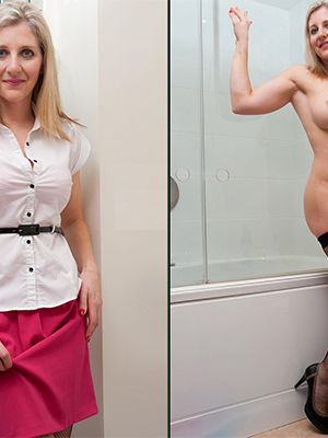dressed undressed mature porn