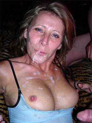 crazy amateur mature facial porn photos