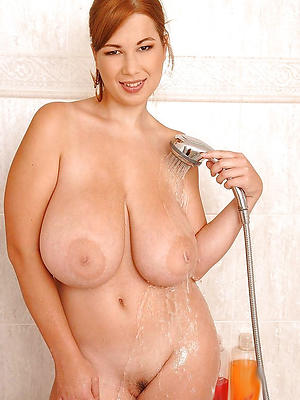 mature close by shower