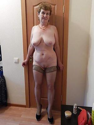 hot grandma posing nude