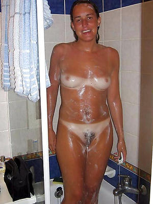 curious grown-up milfs in the shower