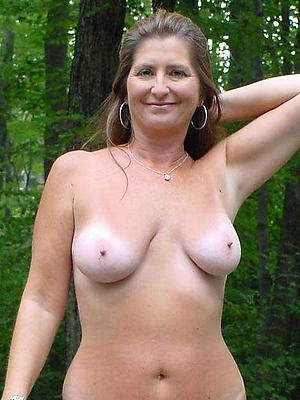 mature amateur moms posing unembellished