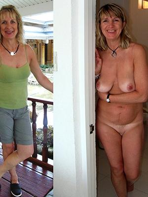 fantastic dressed increased by undressed matures veranda