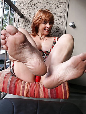slutty sexy mature feet photo