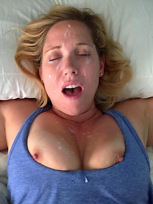 mature wife facial