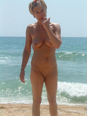 slutty naked mature beach