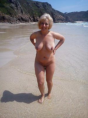 curious naked mature beach