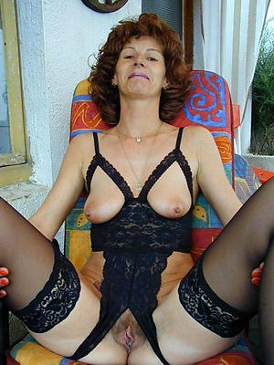 matures and stockings posing nude