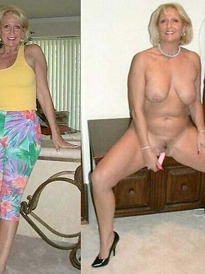 wonderful mature dressed vs undressed