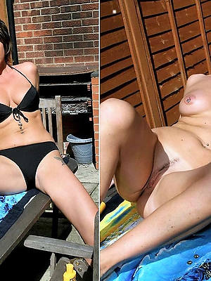 naught mature dressed undressed photo