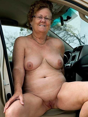 saggy granny tits stripped