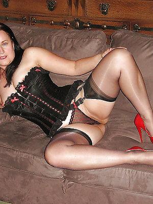 mature battalion all round high heels posing nude