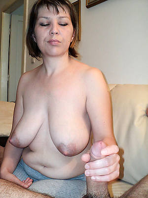 mature wife handjob