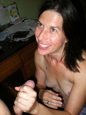 horrific mature mom handjob