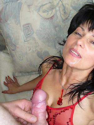 gorgeous mature blowjob facial nude photo