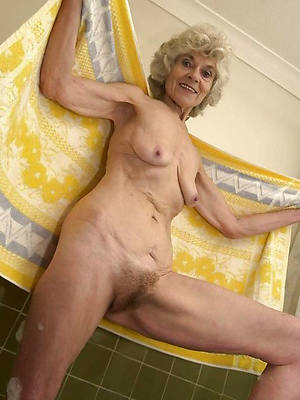 old mature granny stripped