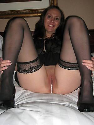 sexy hot mature stocking legs