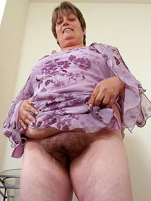 unshaved mature women perfect body