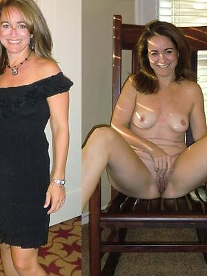 full-grown women before and after posing bare-ass