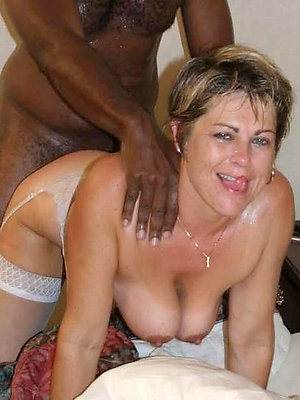 comely interracial mature porn