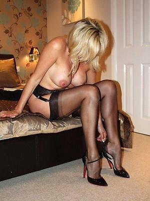beauty mature women in high heels photo