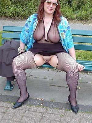 sexy mature in nylon posing