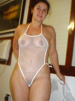 busty of age amateur bikini