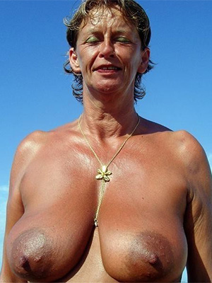 naked pics of mature beach tits