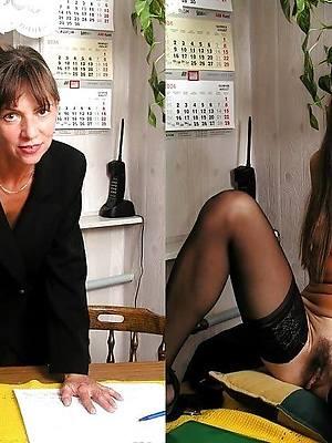 mature dressed undressed porno pics