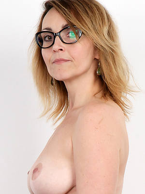 of age with glasses shows pussy