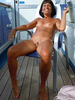 naked mature strata outdoors